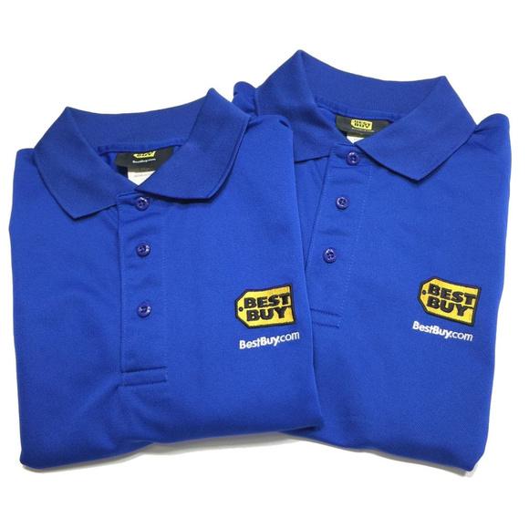 Best Buy Shirts Lot 2 Polo Shirt Employee Uniform Work Poshmark
